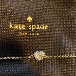Kate Spade New York crystal knot necklace